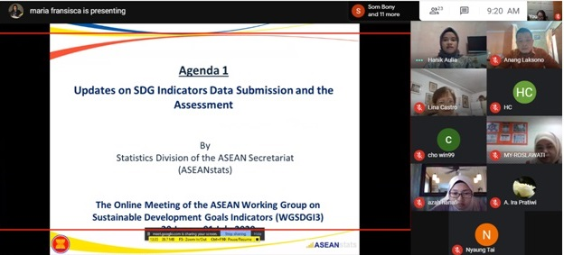 The 3rd Meeting of ASEAN Working Group on Sustainable Development Goals Indicators (WGSDGI3)
